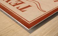 Historic Texas Longhorns Art Wood print