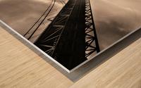 Urban Loneliness - The Bridge Wood print
