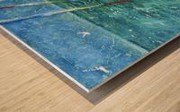 At the Wheel of The Sea Ray Wood print