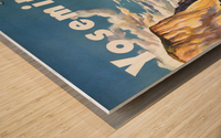 Yosemite United Air Lines travel poster Wood print