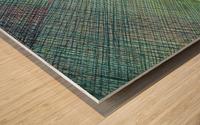 Greenblocks Wood print