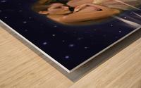 Drapery and Stars Wood print