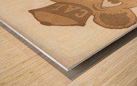 1966 Cal Bear Art | Row 1 Wood print