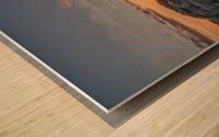 Rocks sun and water Wood print