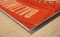 1969 Baltimore Orioles Fleer Cloth Patch Art | Row 1 Wood print