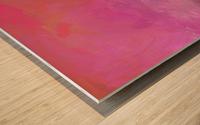 Pink Surf Wood print