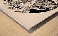 Colibri Wood print