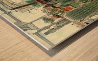 Old Wine Press Used in Succulent Display Wood print