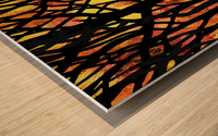 Abstract Fall Forest Wood print