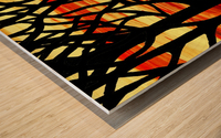 Indian Summer Abstract Forest Wood print