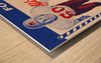 1955 Pro Bowl Football Ticket Stub Art Wood print