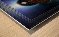 The Golden Vision Of Arsencia Fractal Art Composition Wood print