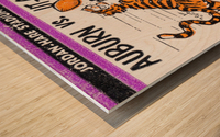 1986 Auburn Tigers vs. Chattanooga Mocs  Wood print