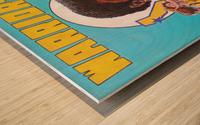 1974 Golden State Warriors Retro Remix Art Wood print