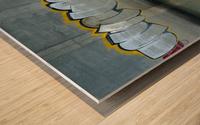 Reflet sous un pont - Reflection under a bridge Wood print
