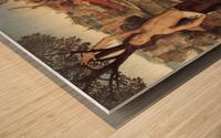 Martyrium des Saint Sebastian Wood print