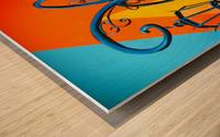 La Boca Lamp Shadows II Wood print