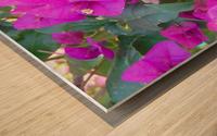Purple Fusion Wood print