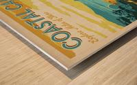 Coastal California travel poster Wood print