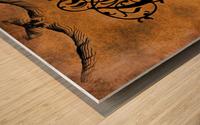 Beautiful Monogram Letter E Wood print