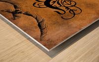 Beautiful Monogram Letter P Wood print