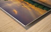 Lakeside sunset; Bushkill, Pennsylvania, United States of America Wood print