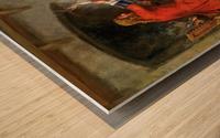 Up in smoke Wood print