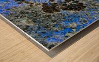 Blue Rock Wood print