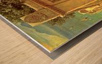 On the terrace Wood print