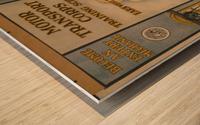 Learn a trade Wood print