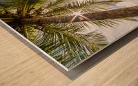 Palm and tropical beach Wood print