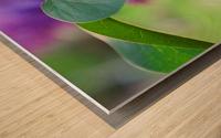 Lilac hearts Wood print