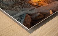 The yelow Light  Wood print