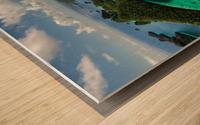 Green paradise Wood print