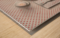 Dotted Dinner Wood print