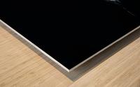 Black & Whale Wood print