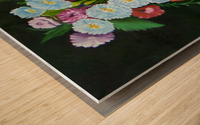 Floral Galaxy Wood print