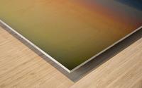 Santorini Sunset Wood print