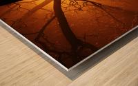 abstract sun tree Wood print
