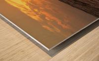 Fire & Water Wood print
