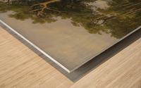 A forest landscape Wood print