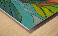 In To The Hummingbird's Eye Wood print