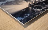 Sunbeams Through Pine Trees Wood print