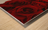 I Love You Card Beside Roses Wood print