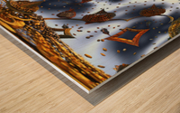 floating city Wood print