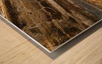 Detail Of Burnt Building Wood print