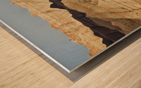 Light and shadows paint the landscape of badlands national park; south dakota united states of america Wood print