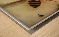 Bee-ing Wood print