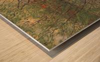 His bank, the Ile de la Grande Jatte by Monet Wood print