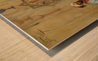 The Game of Tavli Wood print